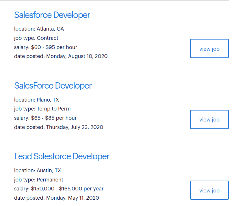 salesforce devs screenshot